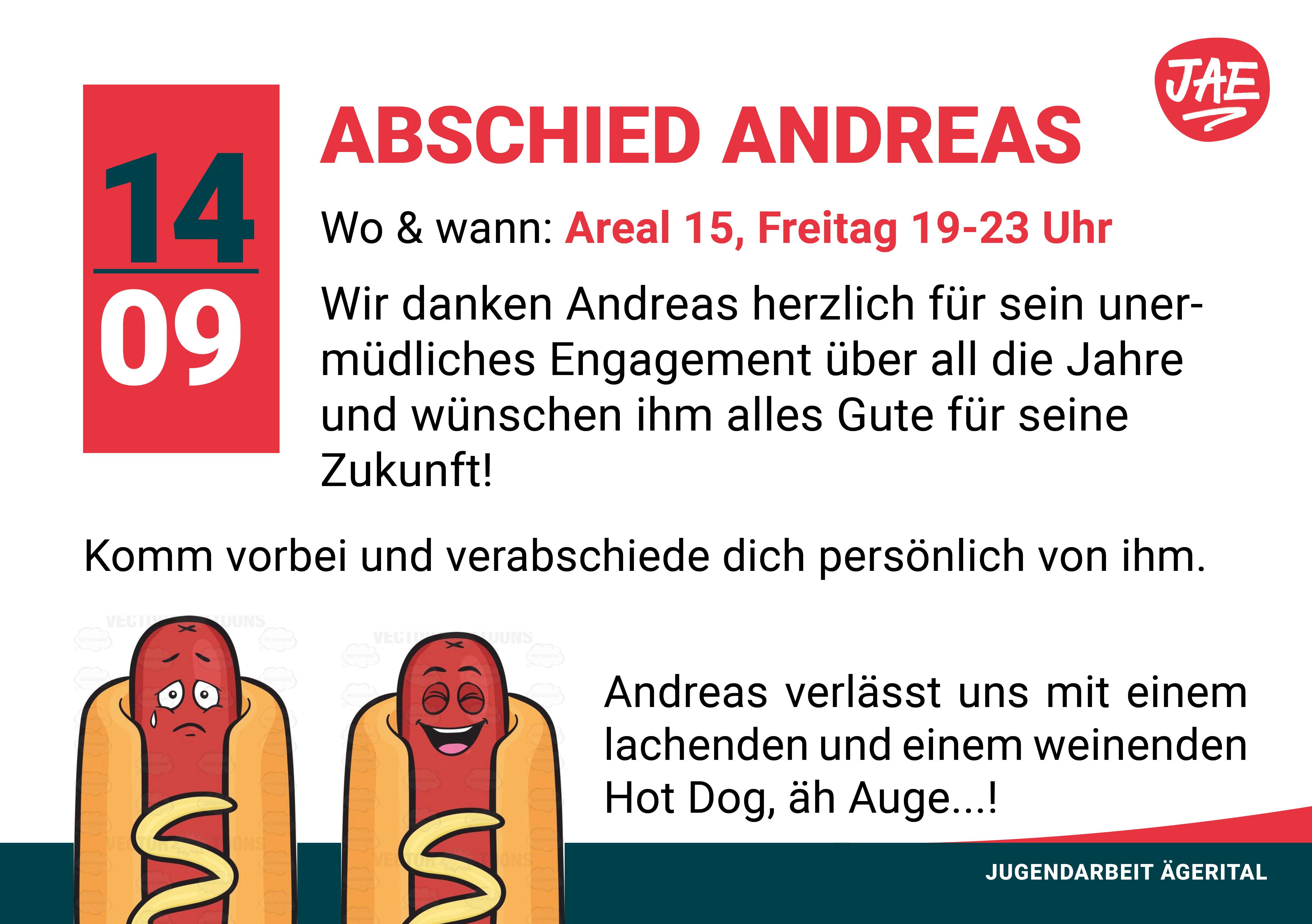 Abschied Andreas Jugendarbeit ägerital